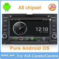 1080P Pure Android 4.0 for Kia universal GPS Car dvd WIFI 3G SD Card Spectra Optima Rondo Rio Sedona Carens Cerato Sportage