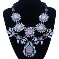 Fashion Vintage Teardrop Pendants Choker Statement Necklace for Women