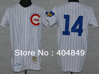 AA+ 14 multiple Ernie Banks jersey,throwback Cubs home white gray blue authentic,women youth custom baseball free shipping