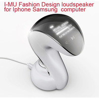 2013 NEW  fashion design speaker for iphone samsung HTC PC Computer speaker notebook audio 2.0 usb portable mini loudspeakers