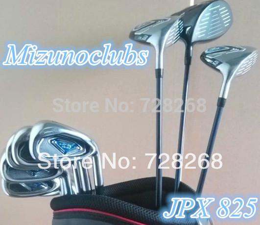 12PCS Golf JPX 825 Complete Set Golf Driver 10.5 Loft Fairway Wood Set #3#5 Golf Irons With Graphite R-Flex Shaft Golf Clubs Set(China (Mainland))