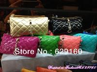 Hot new patent leather shoulder bag diagonal package female bag leather clutch bag