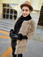 2014 spring winter fur rabbit fur medium-long  rabbit fur coat  natural rabbit fur   fashion women clothing winter clothing