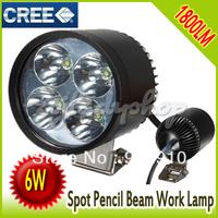 motorcycle led light spot 6W 4 LED CREE Driving Spot Work Light Daytime Running Light Bike Car Motorcycle