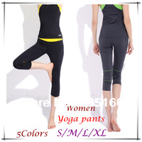 New Design Women Yoga Pants S--XL 5Colors,  Slim Foldover Colorful Capri For Fitness/Dance/Jogging/Sport  JM06779--Free Shipping