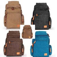 2014 BackPack Canvas Large Capacity Backpack student bag Canvas School Bag Student Backpack  Man Travel Shoulder Bag Canvas