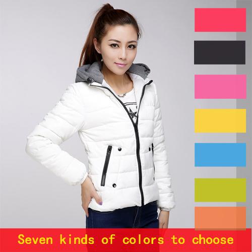 2014 cotone- giacca imbottita femminili corte design giubbotto imbottito cotone- giacca imbottita caramella di colore breve di disegno la giacca