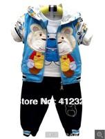 baby kids suit set for autumn spring children boys 3pcs clothing suits hoodies shirt+pants clthes sets
