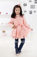 Retail New Brand Baby Girl's Warmer Jacket/Girl's Outerwear/Children's Windbreaker/long & Sweatshirts/Girl's Trench