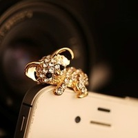 Papa Koala Phone Dust Plug 2colors (Gold & Silver)