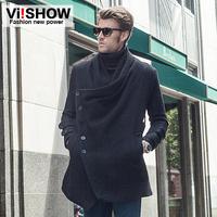 viishow2013 new winter influx of men and men's warm coat and long coat male coat coat