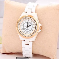Relojes Watches Ceramic Bracelet With Diamond Wholesale Fashion Rose Gold Luxury  Free Shipping Women Dress Watches Dress Watch
