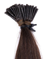 12-30''inch #1 color black 1g/strand,100strands straight remy human nail I tip hair extensions