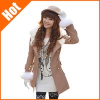 2013 women's slim Wool & Blends fashion new gentlewoman british style coat