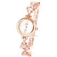 Relojes Fashion Style Black Pink White Casual Rose Gold Plated Bracelet Free Shipping Girls Women Dress Watches Quartz Watch