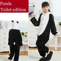 Panda Flannel Children's Pajamas Anime Cosplay Costumes Pijama Infantil Sleepwear Kids Christmas Pajamas Sets For Girls Boys