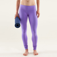 2013 new fashion Lulu Lemon pants women purple solid Lululemon yoga pants sports special cotton Wunder tights, free shipping