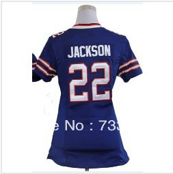 Free Shipping 2013 Youth&Lady rugby Jersey #22 Fred Jackson Football Jerseys Kids&Women Size S M L XL XXL Embroidery and Sewing(China (Mainland))