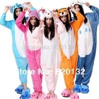 Kawaii Animal Cosplay Costume Unisex Coral Fleece Winter Pajamas Cartoon Costume Women Sleepwear Sleepsuit Adult Free Shipping