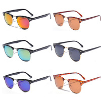 Hot Sale  2013 Fashion Classical Designer Men Sunglasses New Half Frame Metal Arm VintageLeopard  Sunglasses Unisex