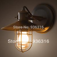 Free shipping e27 40w edison bulb lamp wall Loft vintage fashion bed-lighting american style bird cage wall lamp