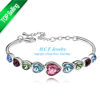 2015 New Free shipping Fashion Bracelet Selling Austrian Crystal Bracelet Droplets women Fashion Jewelry Manufacturers selling