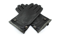 Good quality sheep skin men's winter warm gloves Free shipping