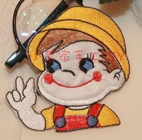 Little boy self-adhesive stickers patch viscose fabric  z55