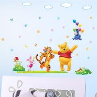 New Wall stickers Cartoon Kids Room Bedroom Removable Wall Stickers Baby Wall Decals cartoon wallpaper DIY