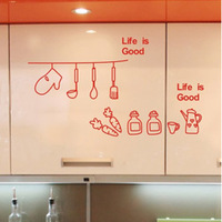 SIZE:750 x 420mm kitchen wall decoration stickers decals Poster home Picture Removable Wall Art decals for wall quotes wallpaper