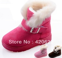 Children's snow boots boys and girls plus velvet warm thick non-slip boots 3 colour EUR 24-29