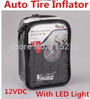 Free Shipping New Design Fashionable 12VDC Car Auto Portable Pump Tire Inflator Mini Air Compressor