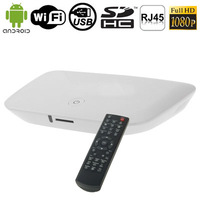 A1 1080P Full HD Android 2.2 TV Box RJ45 HDMI Interface USB WIFI Dongle SD / MMC Card USB Flash Disk Remote Control
