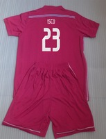 Thai Quality 14-15 Real Madrid away pink Kids New Football Soccer Jersey ISCO 23 Youth Uniforms kit  For 3-12 years children