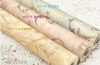 European-style living room woven wallpaper Classic retro 3D wall paper roll Noise insulation