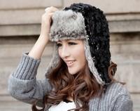 Factory Direct Sell 2013  Winter Korean Fashion Female Velvet Caps Warm Winter Hats Ear Protectors Hat Snow Cap Flying Beanies