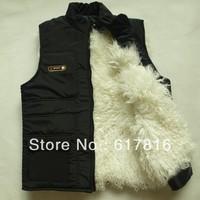 sheepskin leather vest leather vest Men quinquagenarian winter fur vest male genuine leather