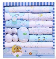 Baby Gift 20pcs  100% Cotton Newborn Gift Set Infants Clothing Sets boys Girls Suits Toddlers Clothes Accessories FREE SHIPPING