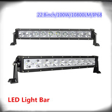 100W single row high power led off road light bars,10pcsX10W OFFROAD LED light, LED WORK LIGHT CREE! S9(China (Mainland))