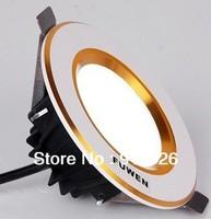 Free shipping white gold white 5W LED Downlight