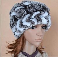 2013 new FREE SHIPPING natural rex rabbit fur hats fur caps drop shipping Vogue rabbit fur hat