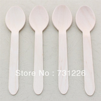 "1000pcs 6.25"" Natural Plain Wooden Spoons for Ice Cream Birthday Christmas Party Etsy Craft DIY FREE SHIPPING"