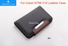 4.5 inch Wallet Flip Design PU Leather Bussiness Man Universal Case For Cubot GT99 C10 Mobile Phone With 2 Card holders(China (Mainland))