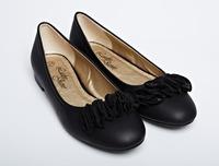 US & UK Fashion Lady Casual Flats Eu Size 36-41 Good Quality Bow-knot  Design Women Black Leather Shoes