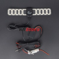 Free Shipping Car Auto TV Booster TV/FM Radio Digital DVB-T Antenna Windshield Mount (10243) @CF