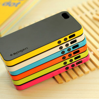 Gold SGP Spigen Bumblebee Neo Hybrid Hard Cover For iPhone 4 4S 4G Phone Case Plastic and Silicon TPU,without Retail Box