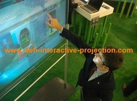 "32"" High Quality   interactive touch foil  for glass windows"