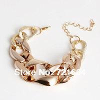 Fashion New Arrived Gold Acrylic Chain Shape Bracelets Fashion bracelet accessories wholesale Full $6 pack mail