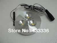 led cabinet light free shipping 12pcs/lots DC 12v 3W LED Puck/Cabinet Light,LED spotlight