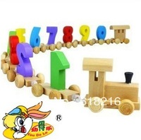 Toy Educational Wooden Train Digital Figures Number Railway Kids 669